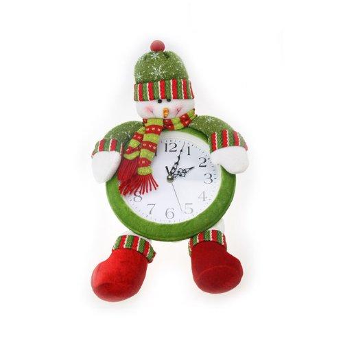 Christmas Long Leg Snowman Clock, Christmas Home Decorations, Gift Idea