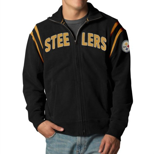 Nfl Pittsburgh Steelers Men'S Heisman Track Jacket, Xx-Large, Jet Black