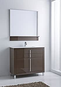 roma 40 inch wide bathroom vanity cabinet set