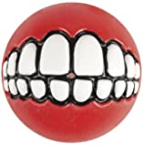 Rogz Grinz Ball, Large, 7.8 cm, Red