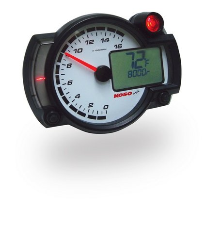 Koso North America RX2-NR GP-Style Race Tachometer BA015000