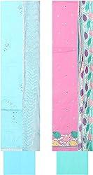 Bee Gee Boutique Women's Cotton Unstitched Dress Materials (BG-69, Sky Blue, Light Pink)