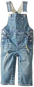 Hatley Infant Girls Dungaree-Denim - Pantalones de peto para niñas