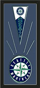 Seattle Mariners Wool Felt Mini Pennant & Seattle Mariners Team Logo Photo -... by Art and More, Davenport, IA
