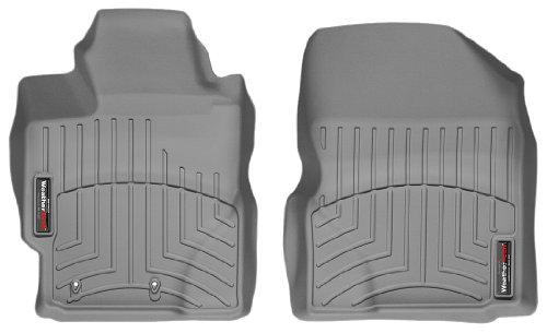 WeatherTech Custom Fit Front FloorLiner for Toyota Yaris, Grey (Toyota Yaris Weathertech compare prices)