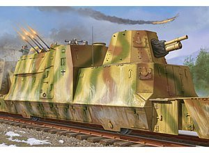 Trumpeter 1/35 WWII German Army Kanonen and Flakwagen Armored Anti-Aircraft Rail Car (Trumpeter 1 35 Rail compare prices)