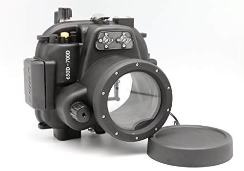 Meikon 50M/160Ft Underwater Waterproof Housing Case For Canon Eos 650D/700D,Canon Eos Rebel T4I/T5I Can Be Used With Ef-S 18-55Mm Or Ef 50Mm F1.4 Or Canon Ef 50Mm F1.8