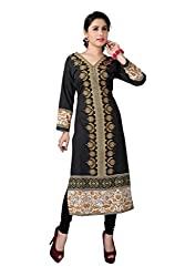 Fashion Galleria Women's Black American Creap Kurti
