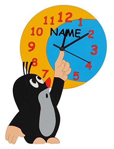 Wanduhr Uhr Holz Kinder Kinderzimmer Kinderuhr ~   Uhr aus Holz  für Jungen Mädchen Kinder  Kinderzimmer Kinderuhr