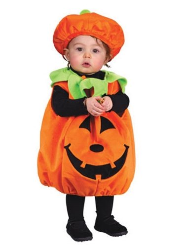 Fun World Infant Girls Fuzzy Pumpkin Cutie Pie Costume with Jumper & Hat