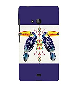 printtech Bird parrot Ethnic Pattern Back Case Cover for Nokia Lumia 950::Microsoft Lumia 950
