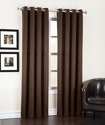Sun Zero Barrow Energy Efficient Grommet Curtain Panel, 54 x 84 Inch, Chocolate Brown (Chocolate Brown Curtains compare prices)