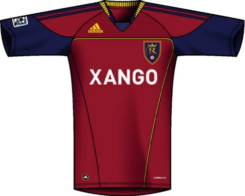 MLS Real Salt Lake Men's Replica Home Jersey (Victory Red, Night Sky, Pure Yellow, XL)