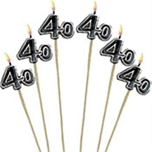 40th Birthday Candle - Cake Decoration Candle