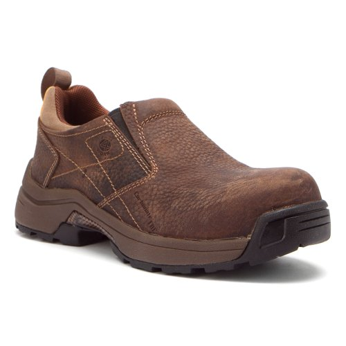 Carolina Boots: Women'S Composite Toe Brown Slip-On Work Shoes Lt251-8M