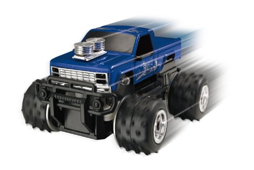 EXrc Excalibur Micro Monster 1:40 Scale RC Truck Car (Blue)