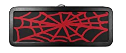 Find-It Spider Web Mini Tin Pencil Box, 8.25 x 3 x 2.5 Inches, Black/Red (FT07341)