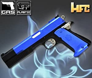 Airsoft Pistol HG-123 Gas Powered S&W 1911 US Military Style. Black & Blue Coloured. UK Legal by HFC