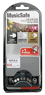 Alpine MusicSafe Pro Attenuating Earplugs. Silver