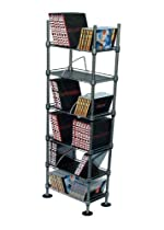 Atlantic SHF6T77 Translucence 6-Tier Media Rack (Titanium with Black)