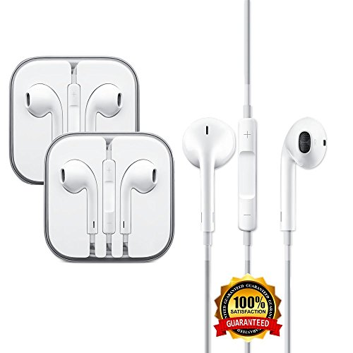Earbuds 2 pack sold by amazon - 2-pack premium earphones/earbuds/headphones with stereo mic&remote