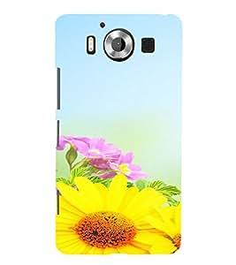 PrintVisa Flower Design 3D Hard Polycarbonate Designer Back Case Cover for Nokia Lumia 950