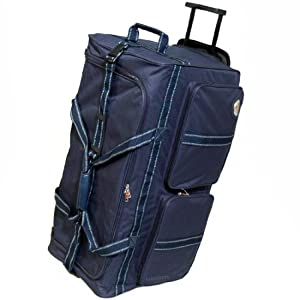 Extra Large 30 Inch Wheeled Holdall Bag (Navy)