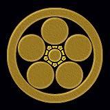 一般家紋蒔絵シール 10.丸に梅鉢/GD