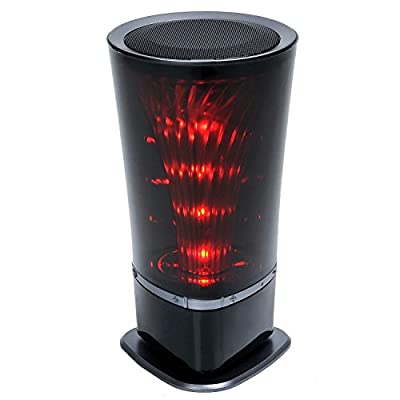 Bluetooth Speakers with FM radio,Portable Color Changing LED Light Wireless HI--FI Surround Stereo Sound Speaker Speakerphone for Home and Outdoor Party / Beach / Picnic