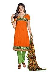 Ombresplash Women Dress Material (Os329 _Orange)