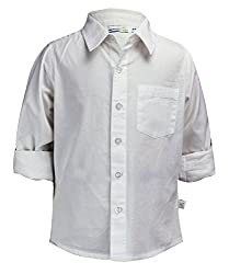 Shoppertree Boys' Shirt (ST-1330_White_4-5 Years)