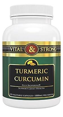 buy Vital & Strong Pure Turmeric Curcumin 1000Mg 120 Count