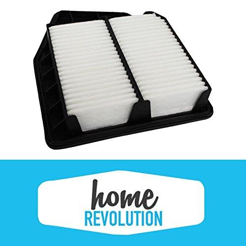 Rigid Panel Air Filter Fits Honda Accord Crosstour A36309 & CA10467; Home Revolution Brand