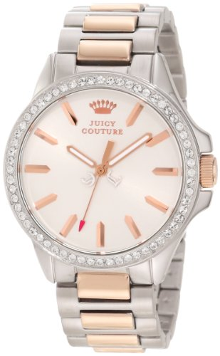 Juicy Couture Women's 1901024 Jetsetter Rose Gold Two Tone Bracelet Watch