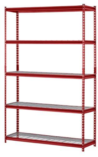 Muscle Rack UR184872-R 5-Shelf Steel Shelving Unit, 48