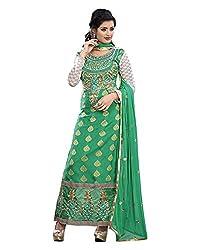 Maruti Suit Women's Viscose Suit Material (M1003, Green, Free Size)