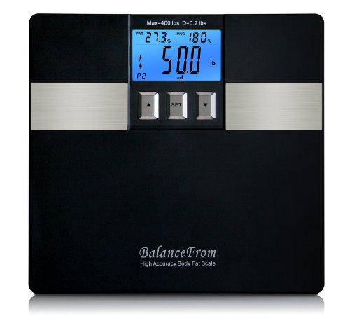BalanceFrom High Accuracy Digital Body Fat Scale & Bathroom Scale with PC Connection and Fitness Software [NEWEST VERSION]