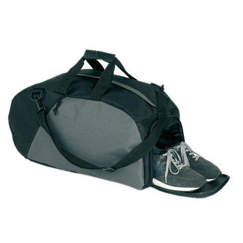 Sporttasche Reisetasche schwarz/grau 52cm mit