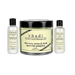 Khadi Moisturizer & Skin Toner Combo Pack Of 4 (Set of 4)