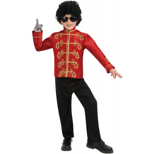 Boy's Costume: Michael Jackson Military Jacket Small 4-6