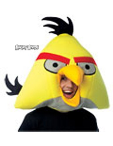 Scary-Masks Angry Birds Yellow Mask Adult Halloween Costume - Most Adults