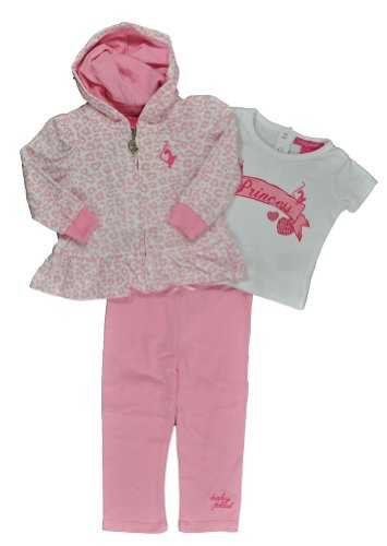 Baby Phat Baby Girls Petal Pink Leopard Print 3Pc Legging Set (18M) (Baby Phat Pants compare prices)