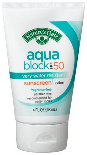 Nature'S Gate Aqua Block Sunscreen Lotion, Very Water Resistant, Fragrance-Free, Spf 50, 4-Ounce Tubes (Pack Of 3) front-59692