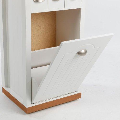 venture horizon butcher block bin with pantry white at