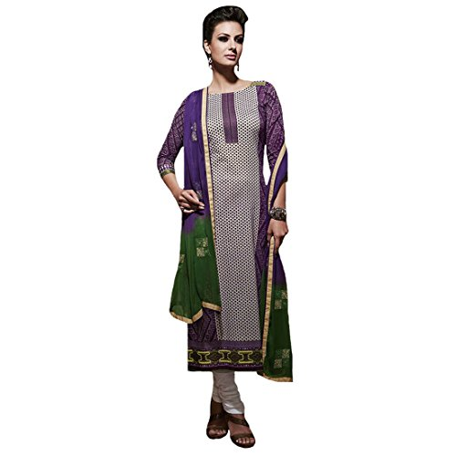 Radhika Sarees Multi Cotton Free Size Straight Unstiched Dress Material