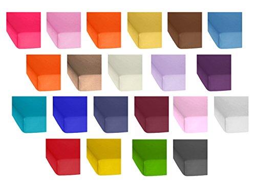 2er-Pack-Standard-Jersey-Kinder-Spannbetttuch-60x120-bis-70x140-cm-in-vielen-Farben-Spannbettlaken-passend-fr-Kinder-und-Babymatratzen-100-Baumwolle-Orange