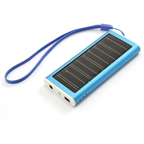 1350mah Solar Panel Portable Charger Backup External Battery Pack for Iphone 5s 5c 5 4s 4, Ipods, Ipad Mini Retina(apple Adapters Not Included), Samsung Galaxy Note 3, Note 2, S5 S4, S3, S2, Most Android Smart Phones and Tablets, More Other Usb-charged Devices (Blue) Reviews
