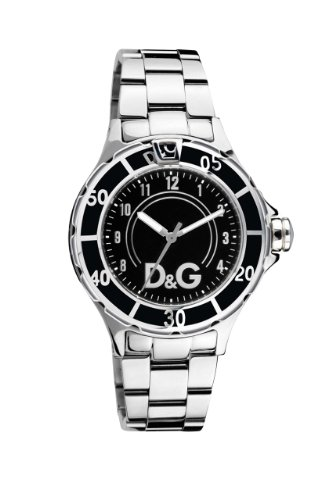 Dolce & Gabbana DW0581 Men's Analog Quartz Watch with Silver Stainless Steel Bracelet