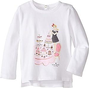 kate spade york Tea Party Long Sleeve Caitlin Tee, Fresh White