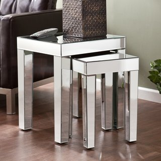 Mirrored Nesting Accent Modern Contemporary Home Table 2Pc Set front-248567